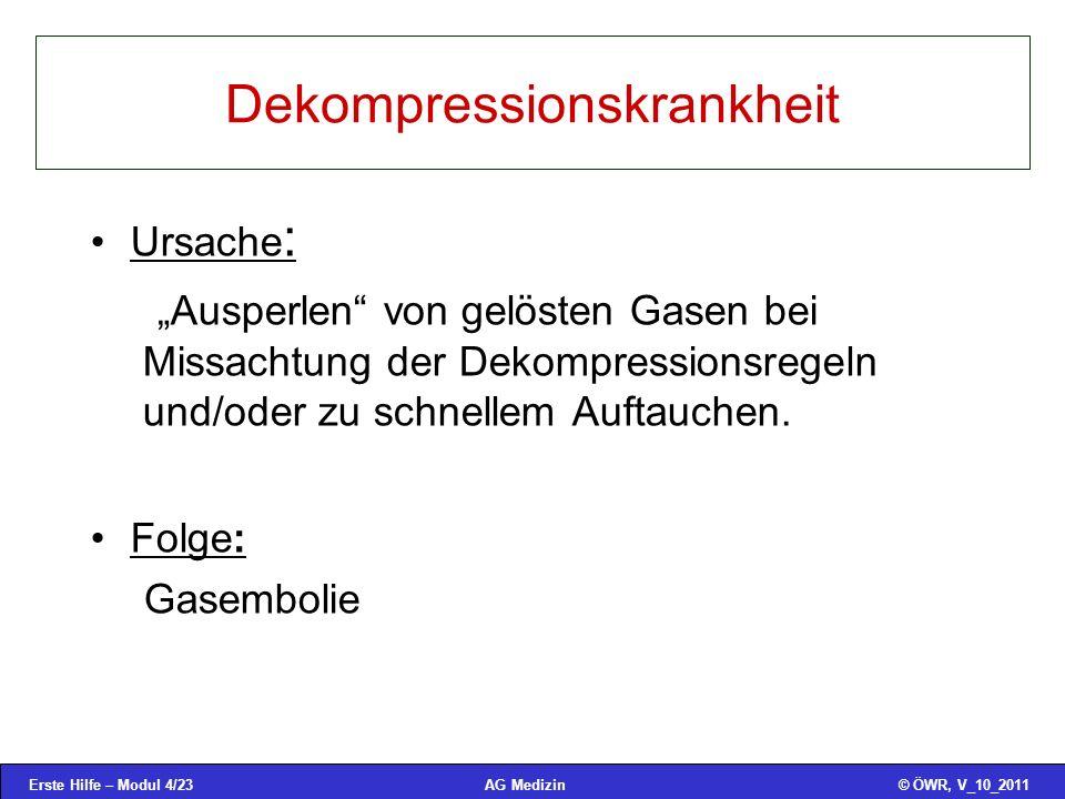 Dekompressionskrankheit