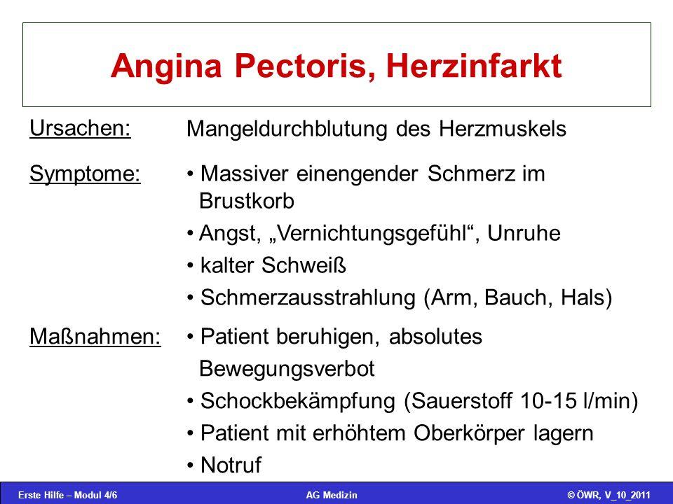 Angina Pectoris, Herzinfarkt