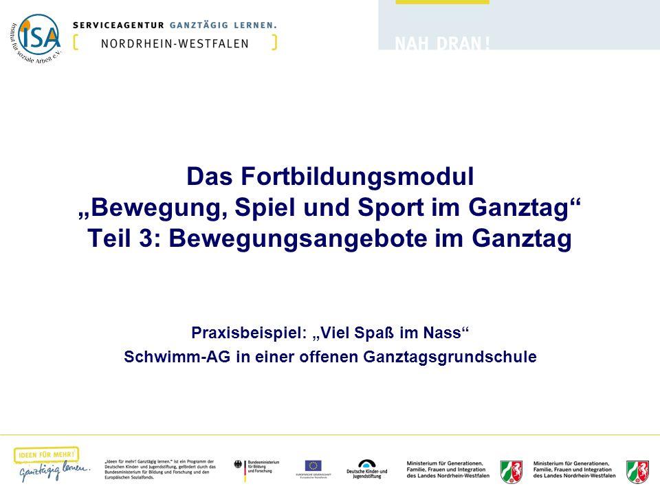 """Das Fortbildungsmodul """"Bewegung, Spiel und Sport im Ganztag Teil 3: Bewegungsangebote im Ganztag"""