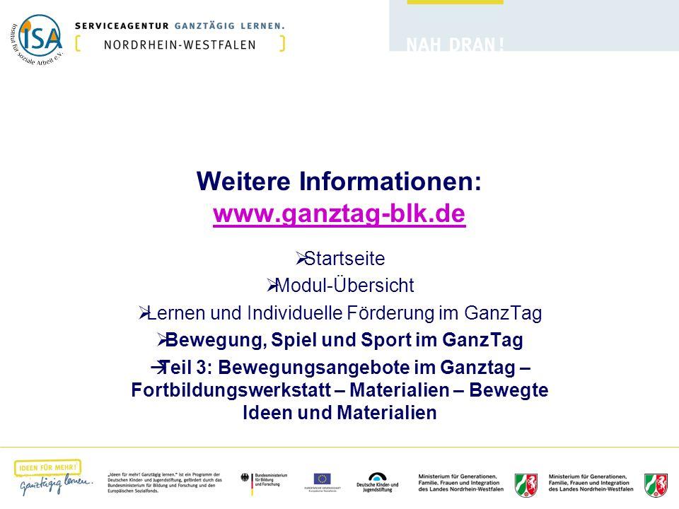 Weitere Informationen: www.ganztag-blk.de