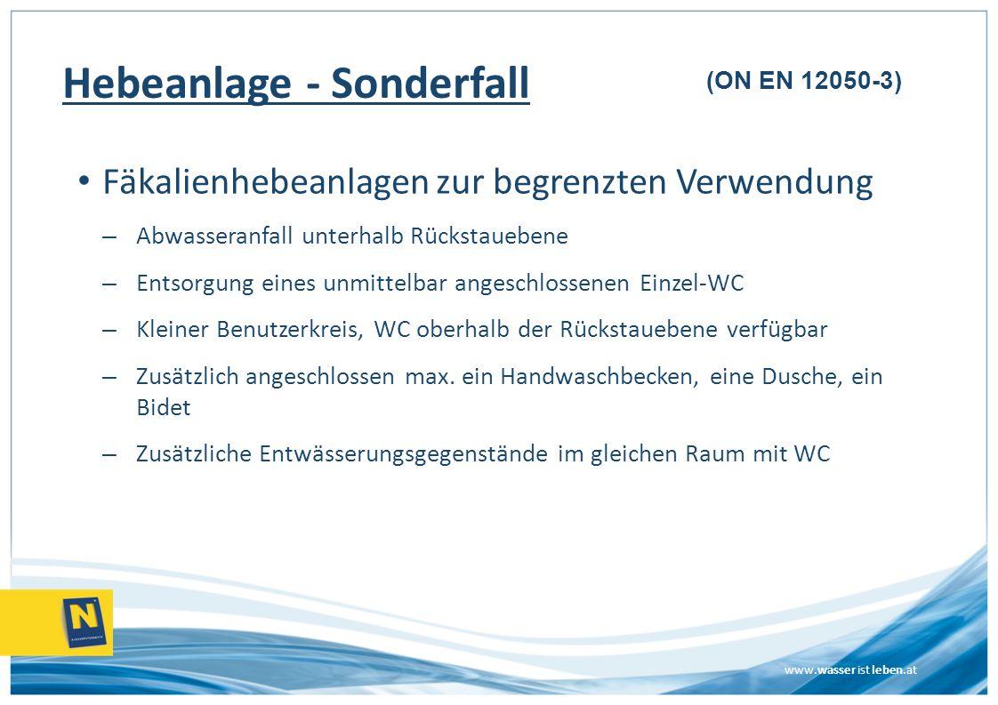 Hebeanlage - Sonderfall