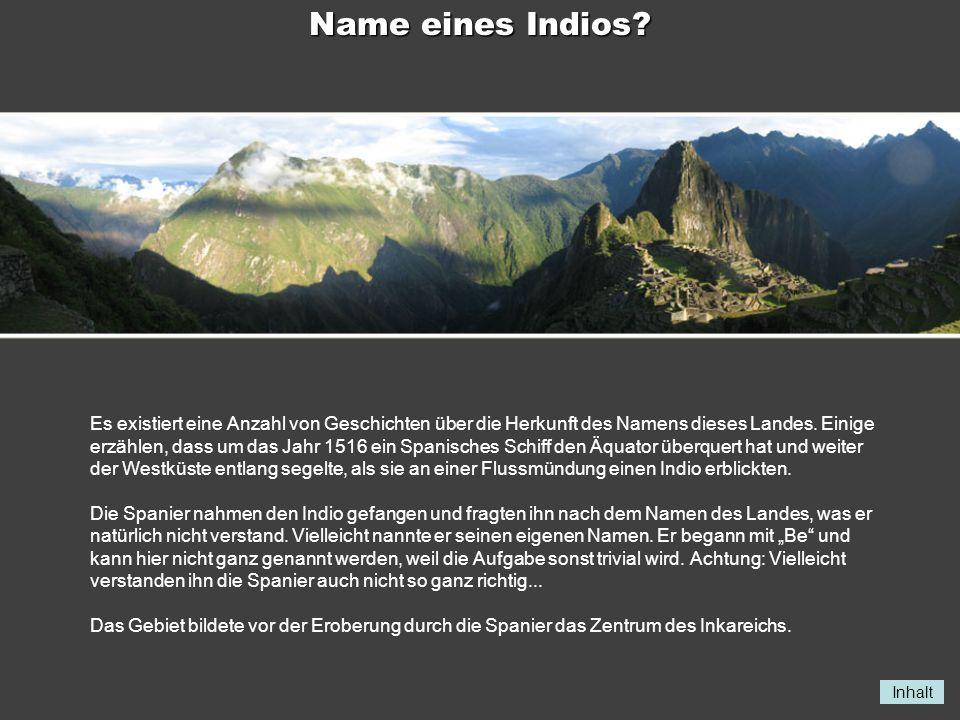 Name eines Indios