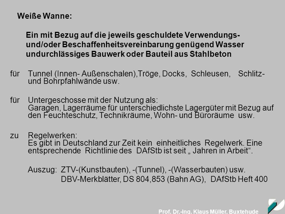 Auszug: ZTV-(Kunstbauten), -(Tunnel), -(Wasserbauten) usw.