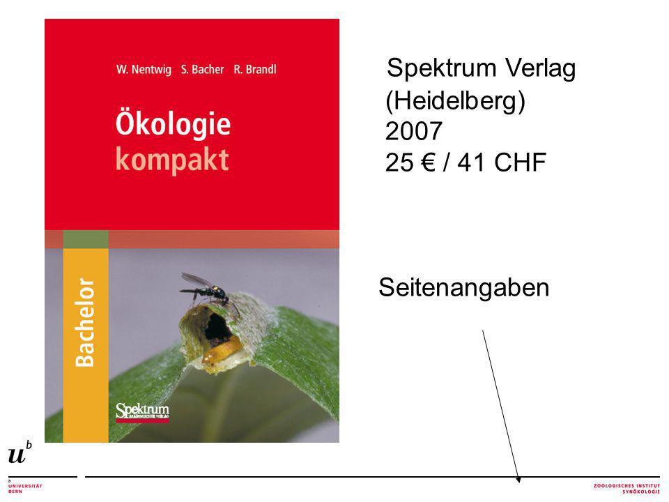 Spektrum Verlag (Heidelberg) 2007 25 € / 41 CHF Seitenangaben