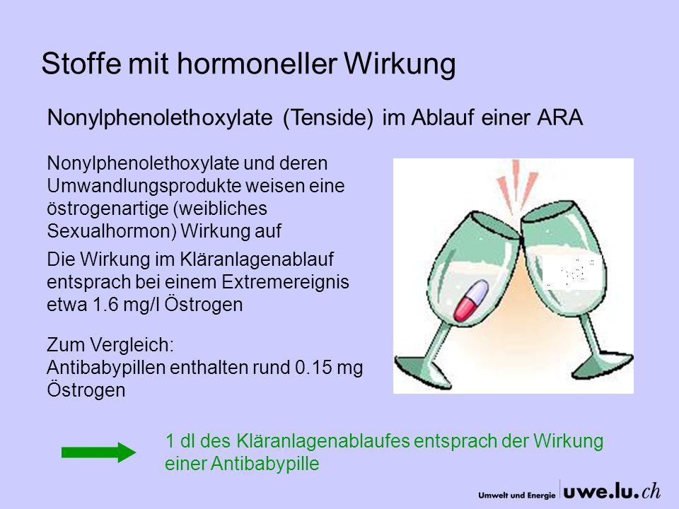 Stoffe mit hormoneller Wirkung