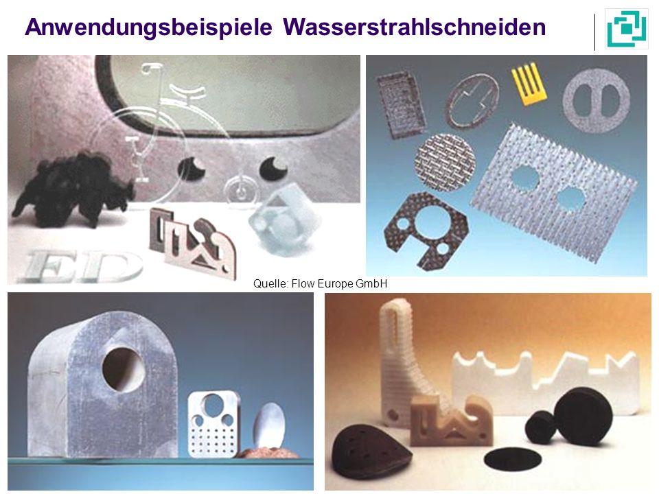 Anwendungsbeispiele Wasserstrahlschneiden
