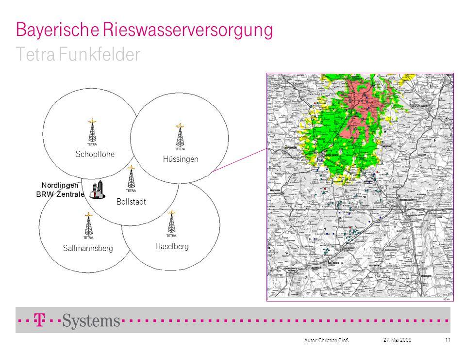 Bayerische Rieswasserversorgung Tetra Funkfelder