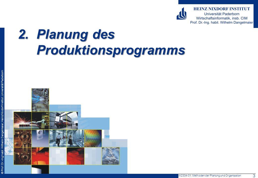 2. Planung des Produktionsprogramms