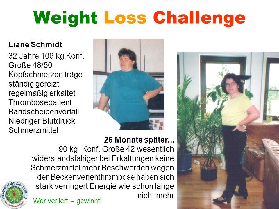 Weight Loss Challenge Liane Schmidt