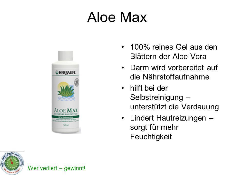 Aloe Max 100% reines Gel aus den Blättern der Aloe Vera