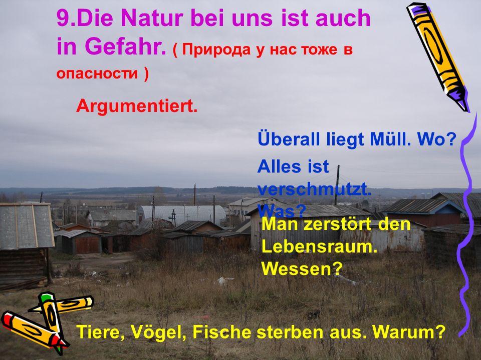 9. Die Natur bei uns ist auch in Gefahr