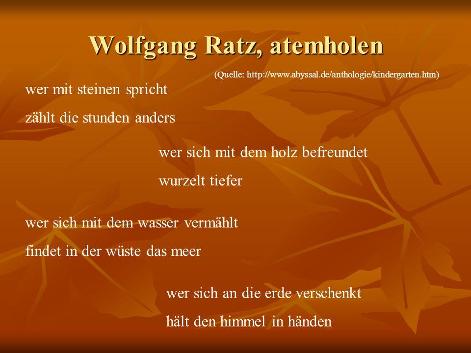 Wolfgang Ratz, atemholen