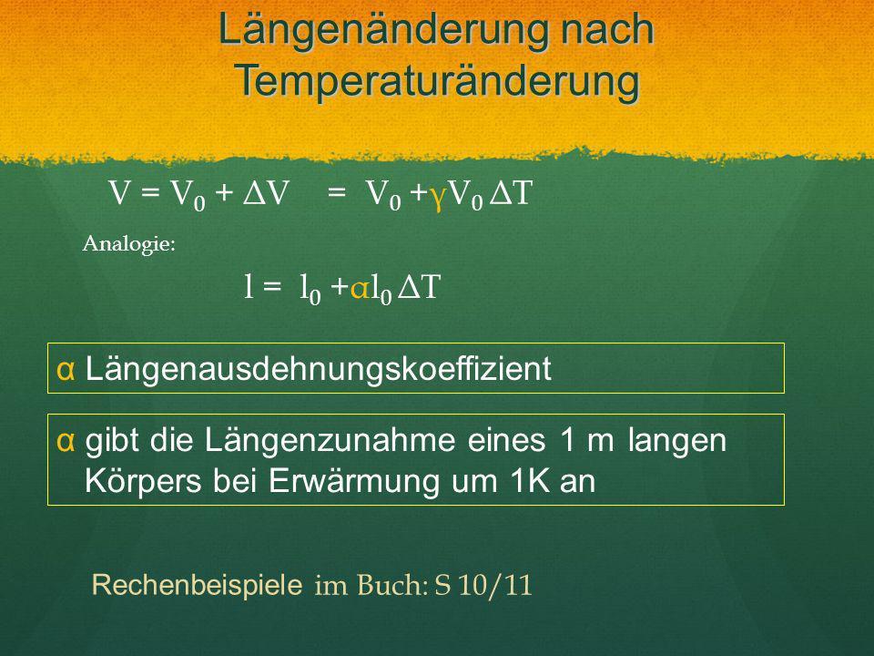 Längenänderung nach Temperaturänderung