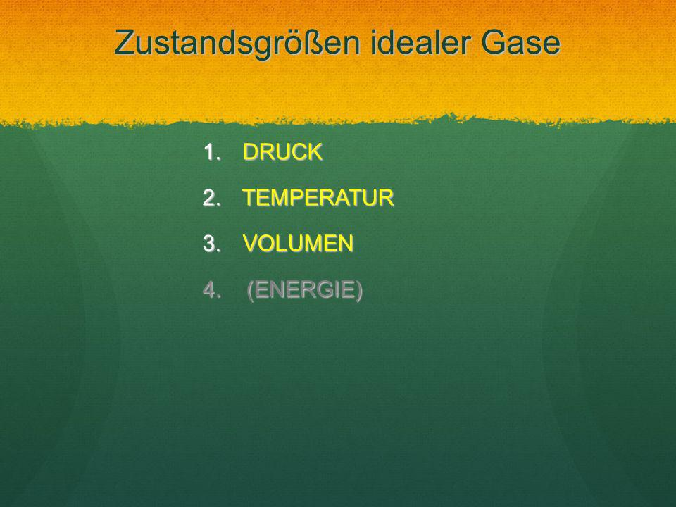 Zustandsgrößen idealer Gase