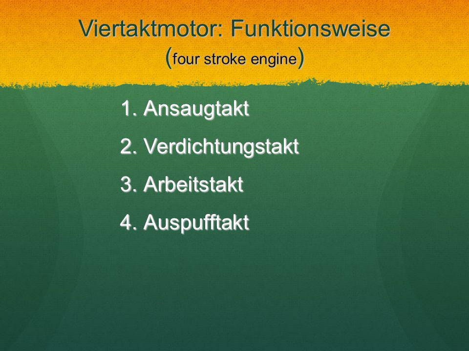 Viertaktmotor: Funktionsweise (four stroke engine)