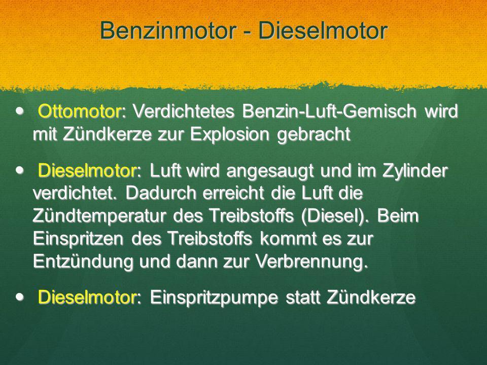 Benzinmotor - Dieselmotor