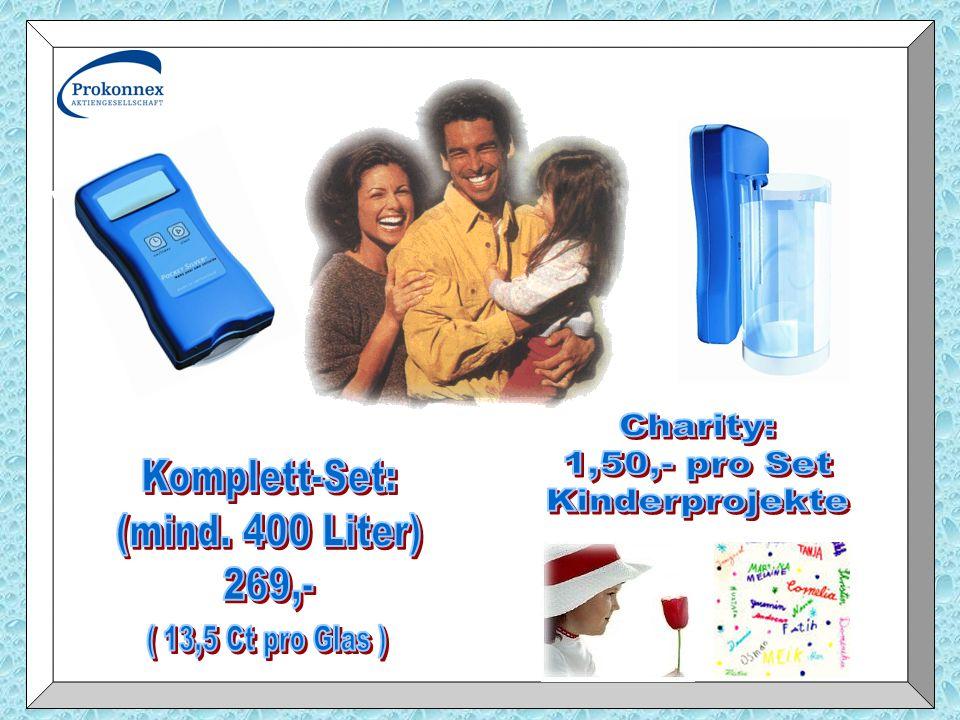 Charity: 1,50,- pro Set Komplett-Set: Kinderprojekte (mind. 400 Liter)