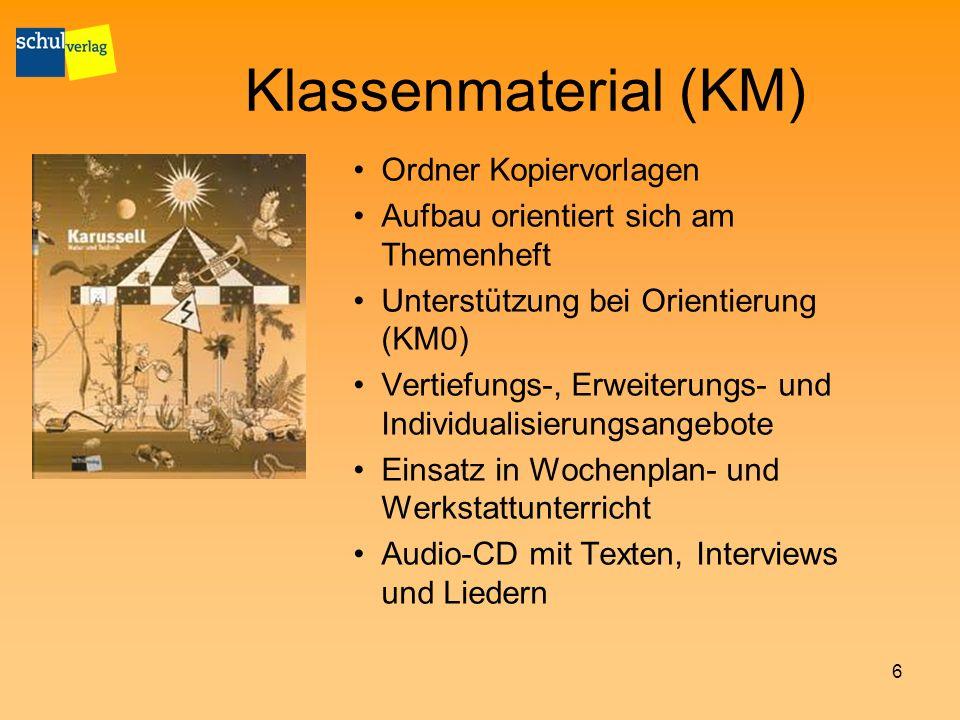 Klassenmaterial (KM) Ordner Kopiervorlagen