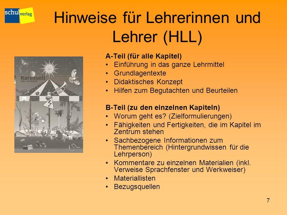 Hinweise für Lehrerinnen und Lehrer (HLL)