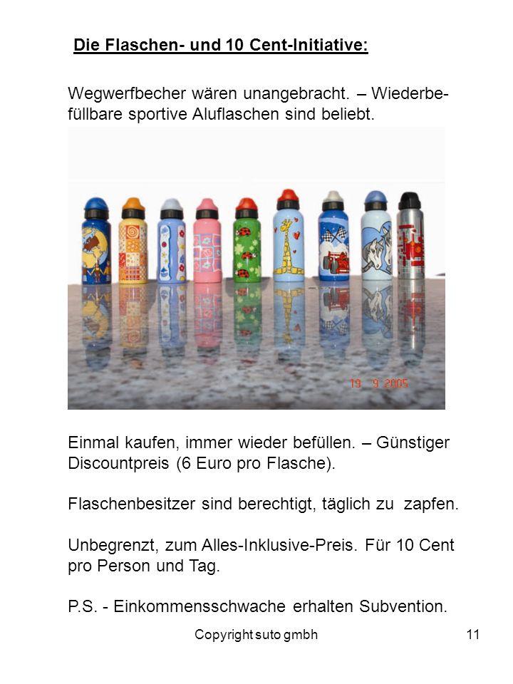 Die Flaschen- und 10 Cent-Initiative: