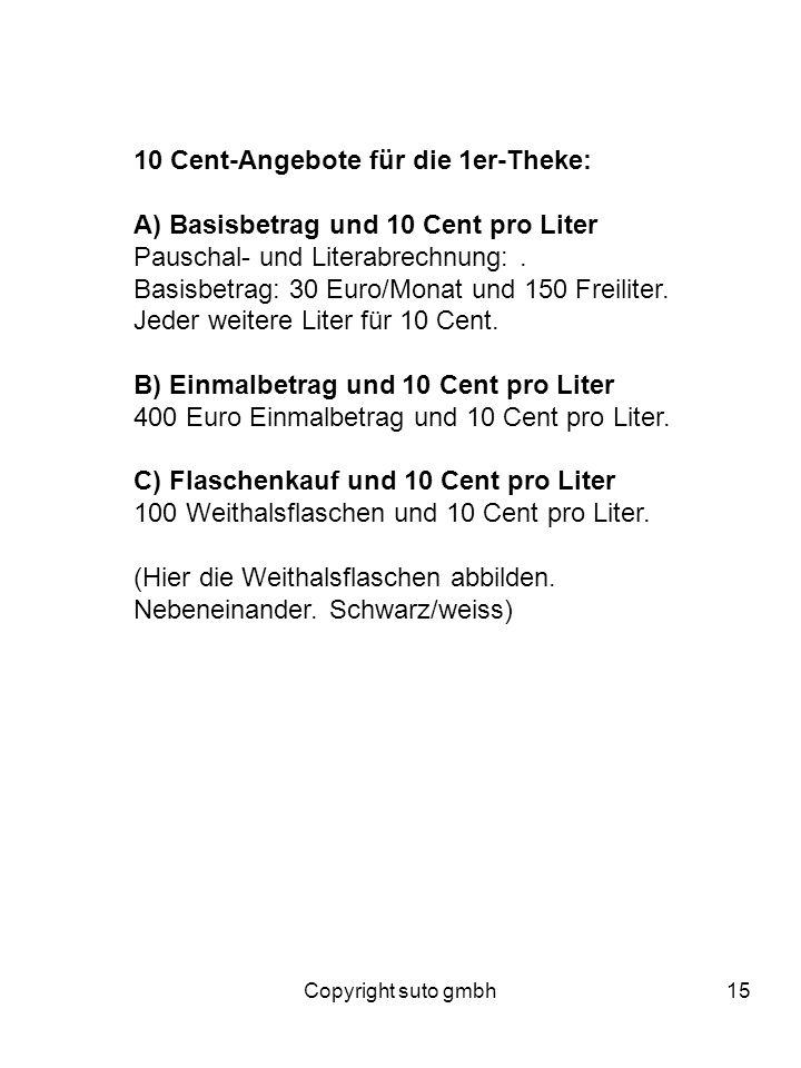 10 Cent-Angebote für die 1er-Theke: