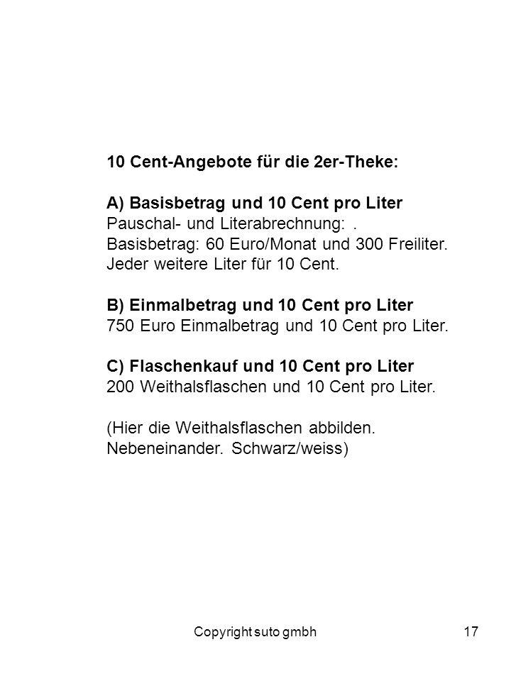 10 Cent-Angebote für die 2er-Theke:
