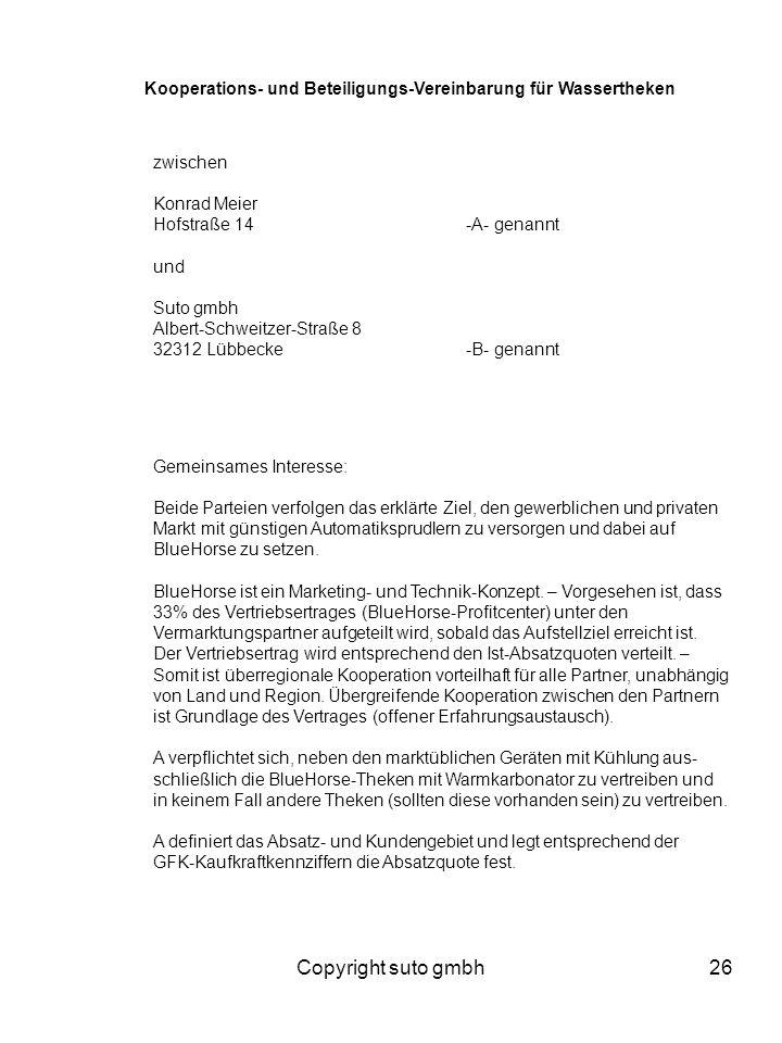 Kooperations- und Beteiligungs-Vereinbarung für Wassertheken