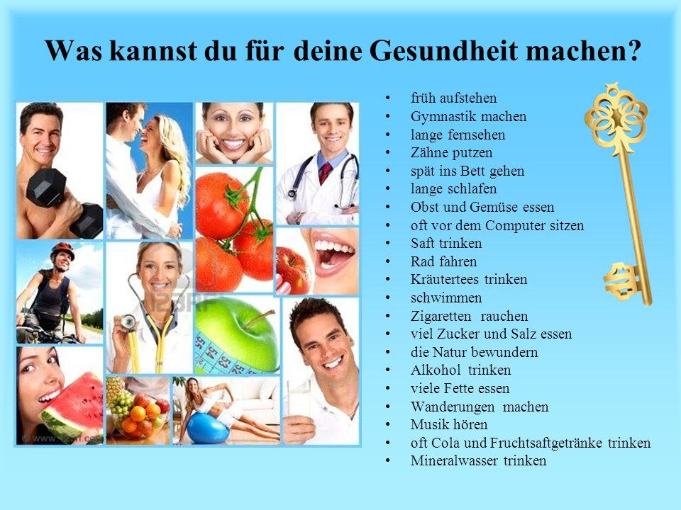 Was kannst du für deine Gesundheit machen