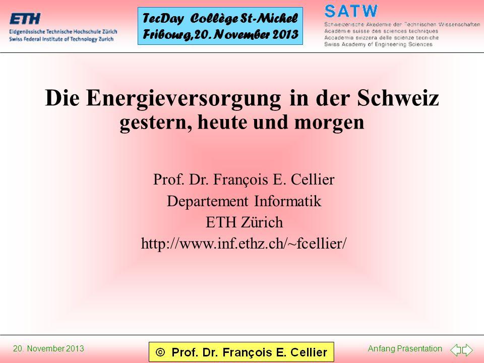 Die Energieversorgung in der Schweiz