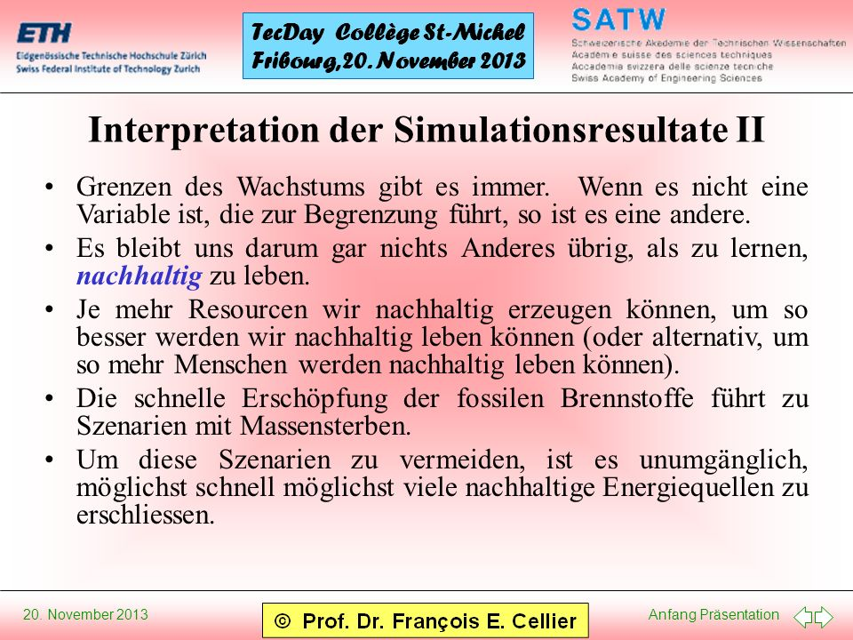 Interpretation der Simulationsresultate II