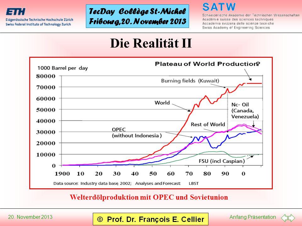 Die Realität II Welterdölproduktion mit OPEC und Sovietunion