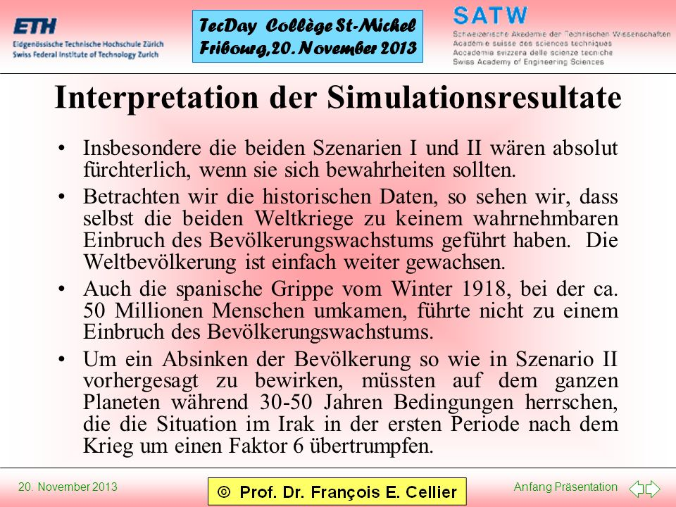 Interpretation der Simulationsresultate