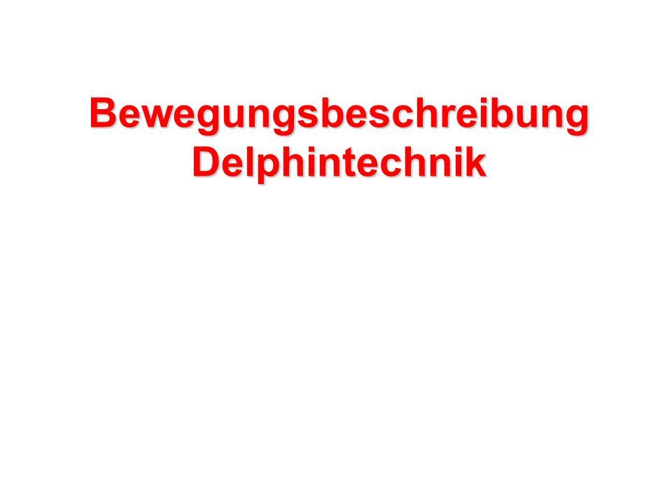 Bewegungsbeschreibung Delphintechnik
