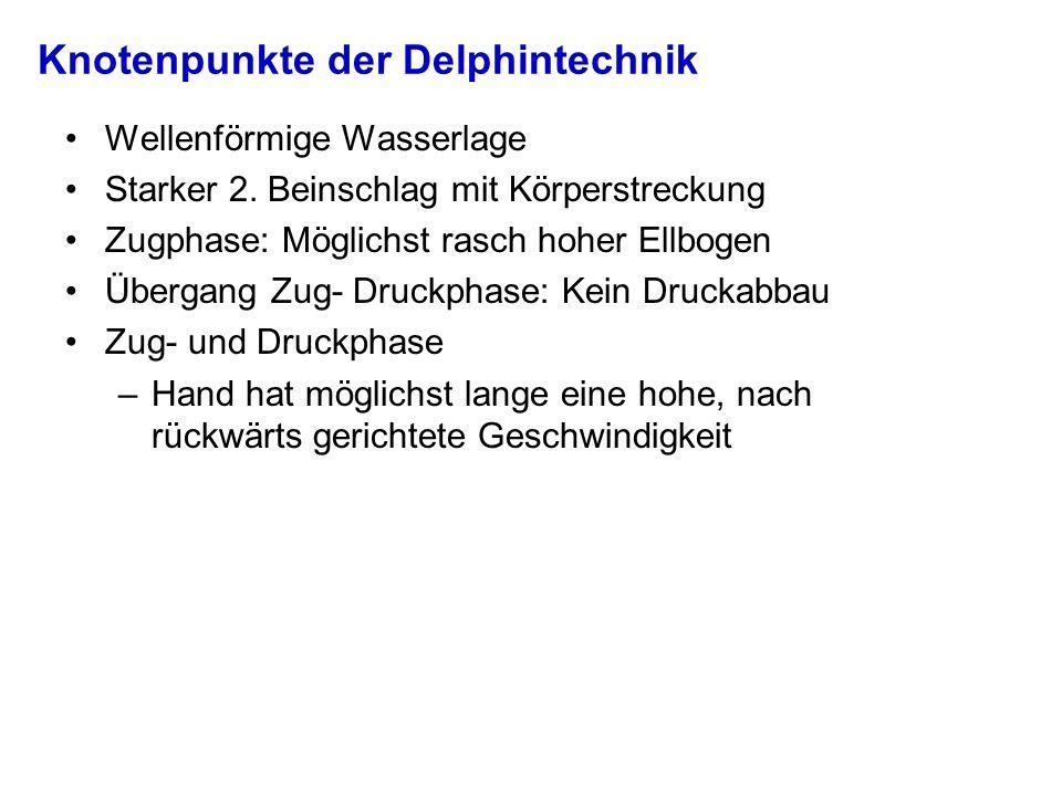 Knotenpunkte der Delphintechnik