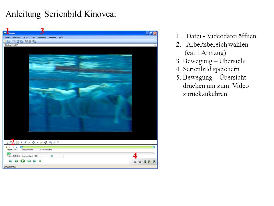 Anleitung Serienbild Kinovea: