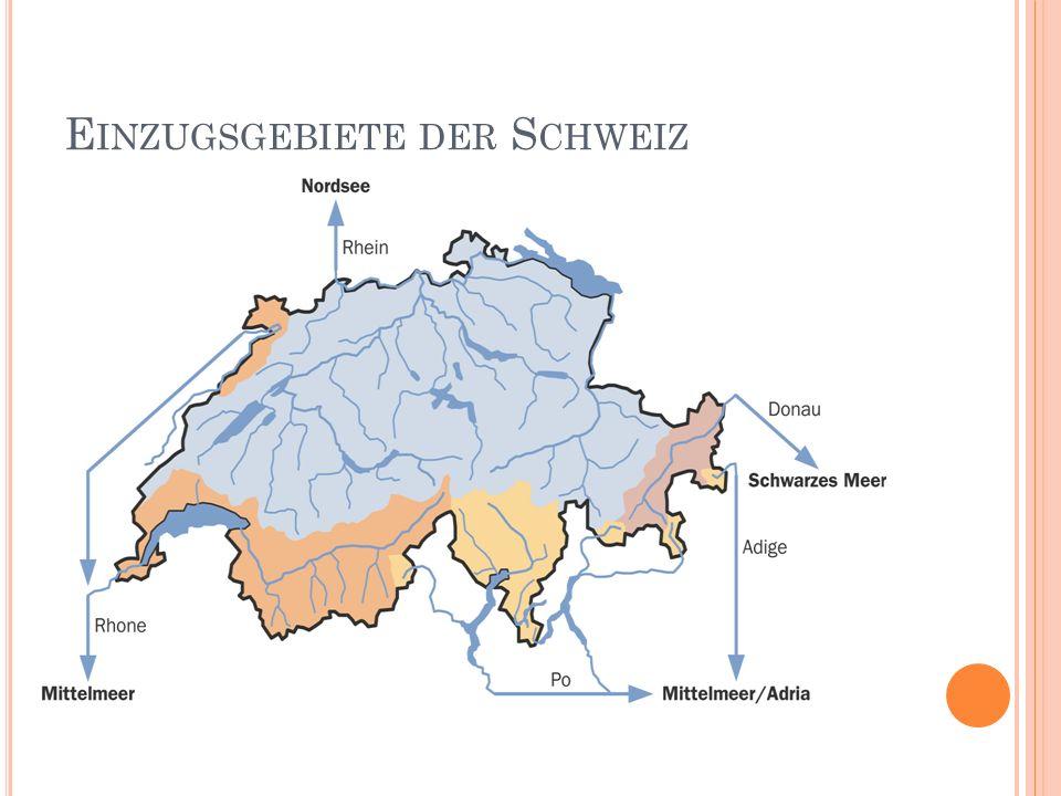 Einzugsgebiete der Schweiz