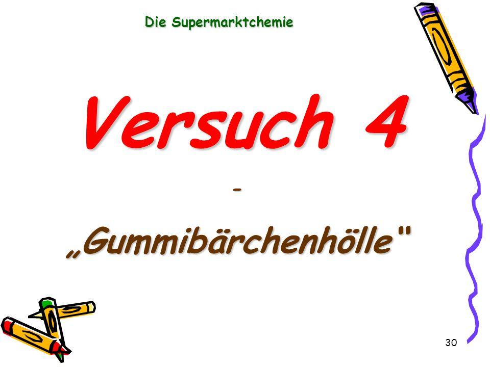 """Die Supermarktchemie Versuch 4 - """"Gummibärchenhölle"""