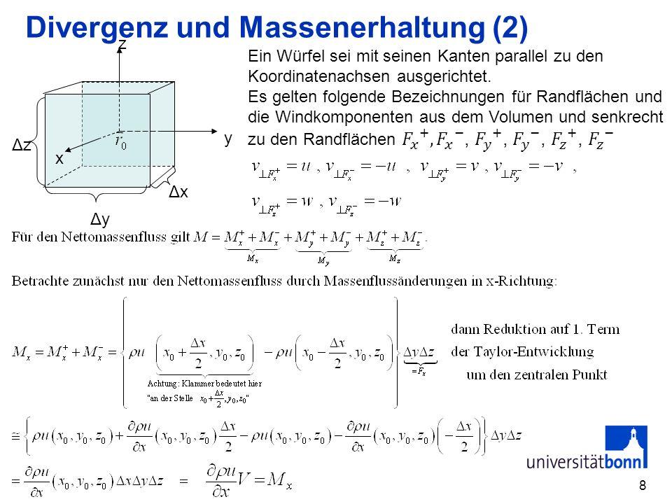 Divergenz und Massenerhaltung (2)