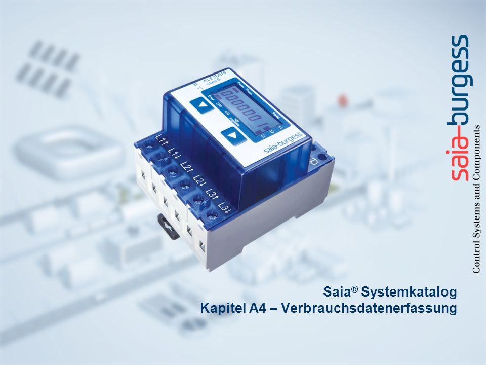 Saia® Systemkatalog Kapitel A4 – Verbrauchsdatenerfassung