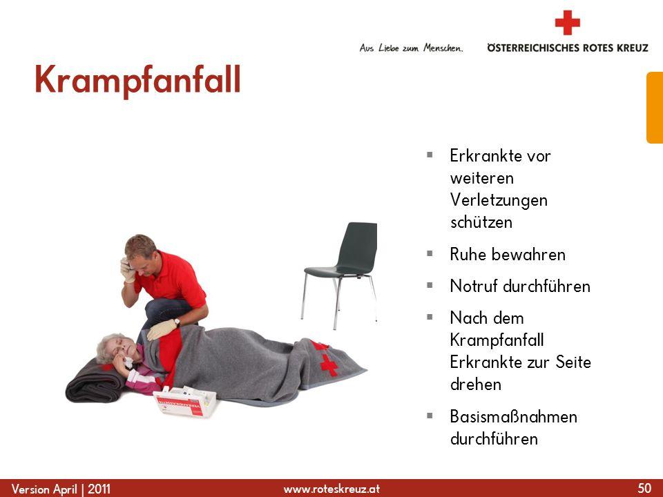 Krampfanfall Erkrankte vor weiteren Verletzungen schützen