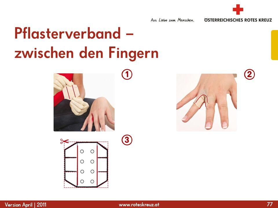 Pflasterverband – zwischen den Fingern