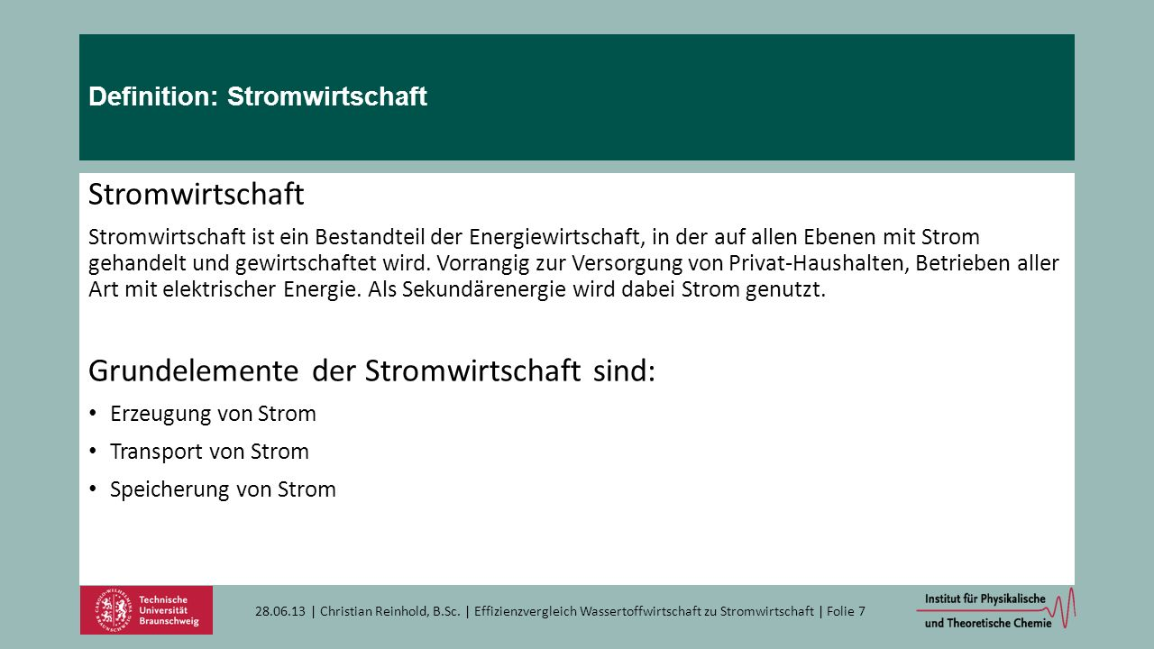 Definition: Stromwirtschaft
