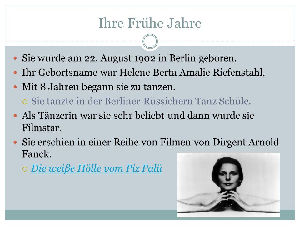 Ihre Frühe Jahre Sie wurde am 22. August 1902 in Berlin geboren.
