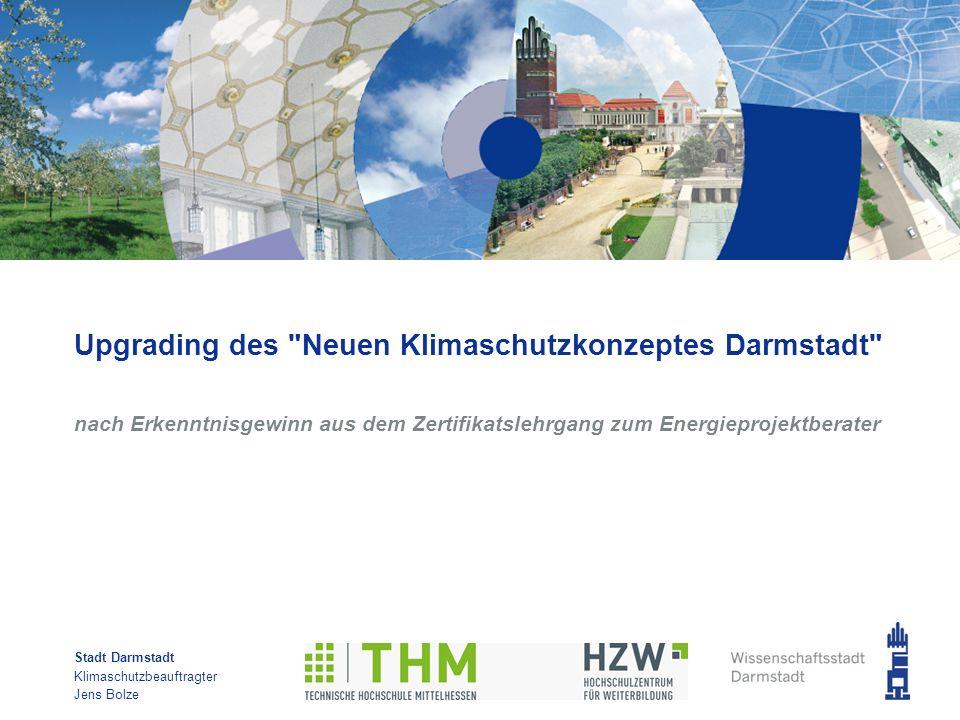 Upgrading des Neuen Klimaschutzkonzeptes Darmstadt