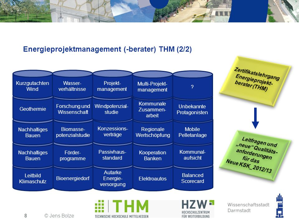 Energieprojektmanagement (-berater) THM (2/2)