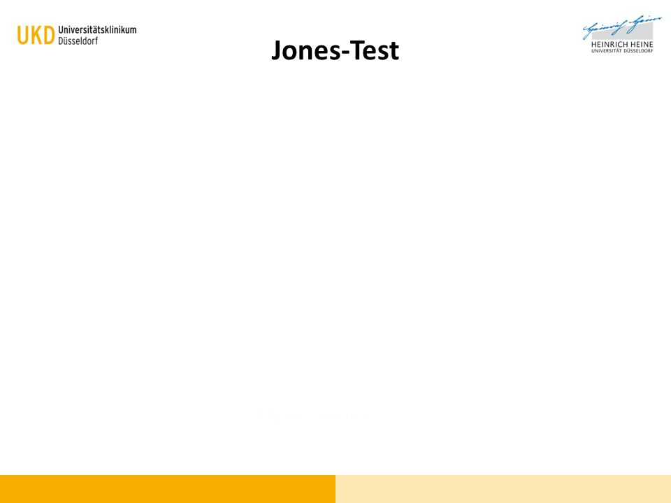 Jones-Test Fluoreszein-Test
