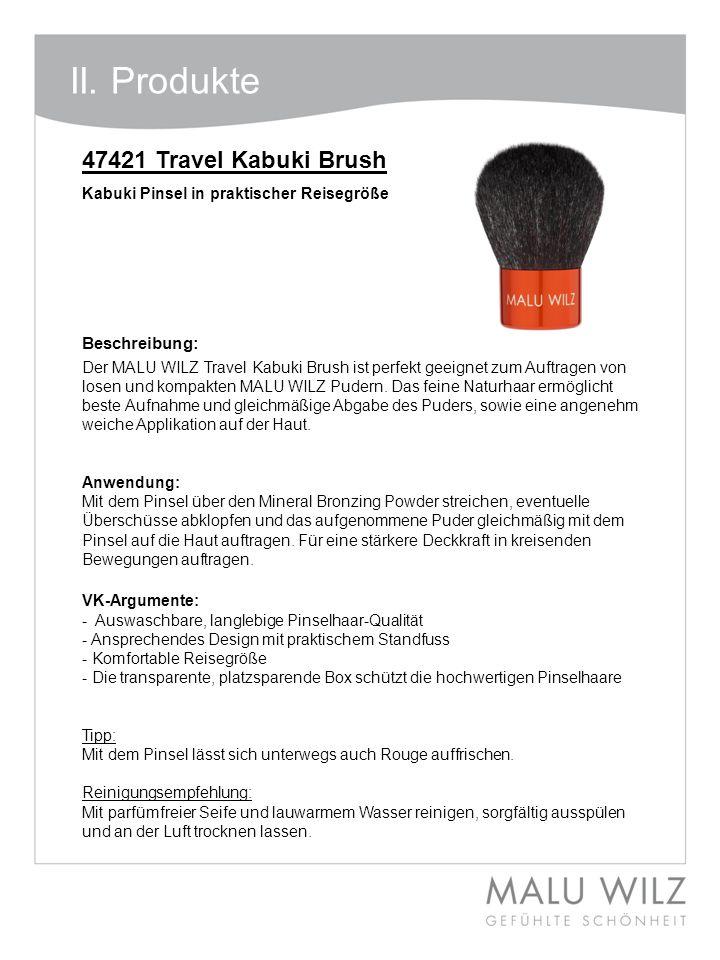 II. Produkte 47421 Travel Kabuki Brush Beschreibung: