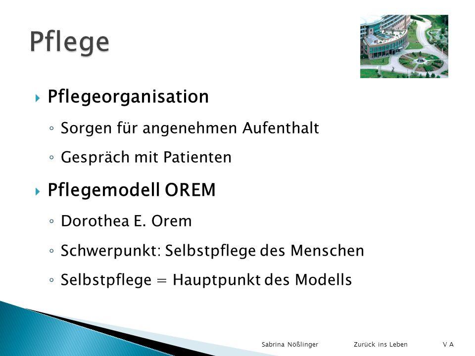 Pflege Pflegeorganisation Pflegemodell OREM