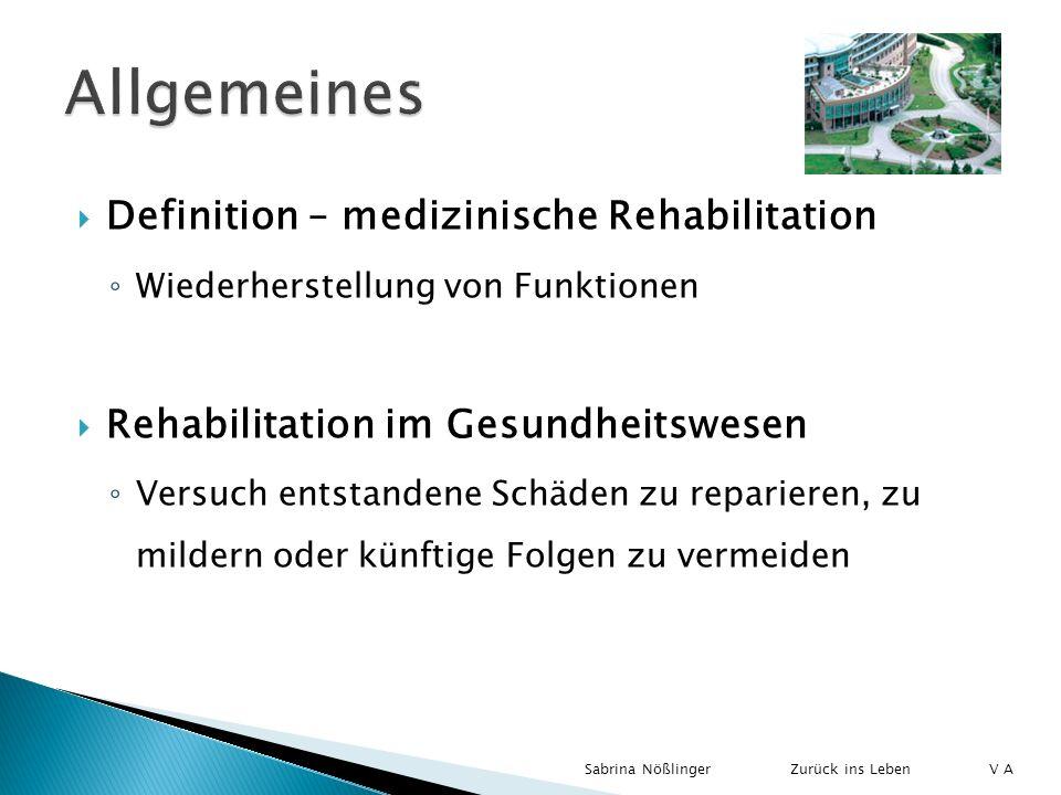 Allgemeines Definition – medizinische Rehabilitation