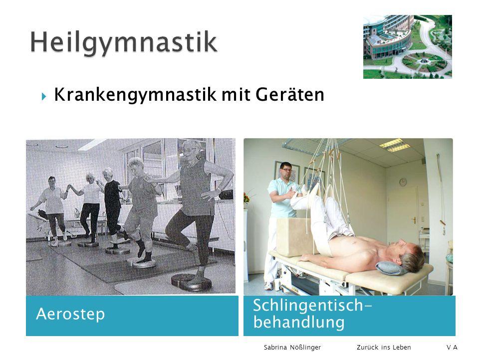 Heilgymnastik Krankengymnastik mit Geräten Schlingentisch- behandlung